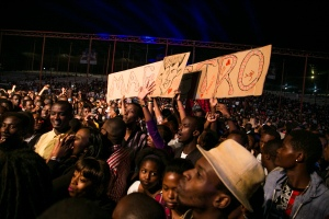 Stromae in Kigali Oct 17,2015 Eager fans waiting for the main man... By Cyril