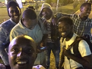 We were so desperate that taking photos and calling our little group #TeamNoSleep was a cope out to relieve the stress... That hashtag is the name we coined ourselves because we waited till 2 am! Another Whoah! Mind you Stromae touched down at 10 am Kigali time... Major bummer.
